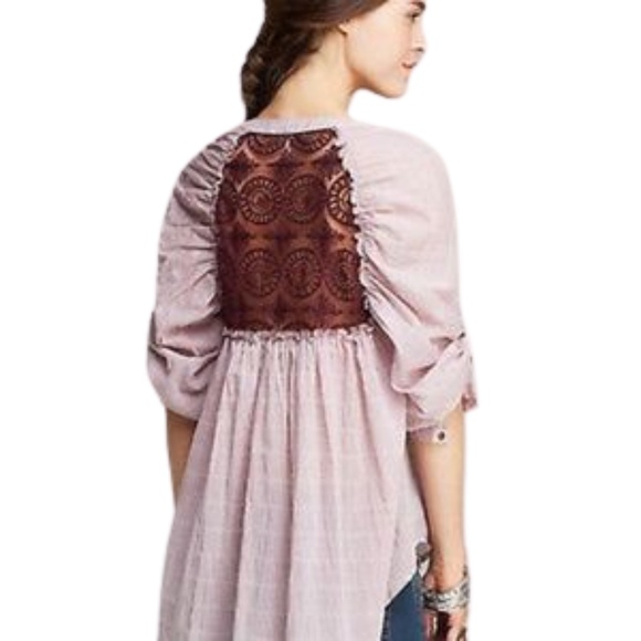 Free People Put Your Back Into It Button Up Shirt